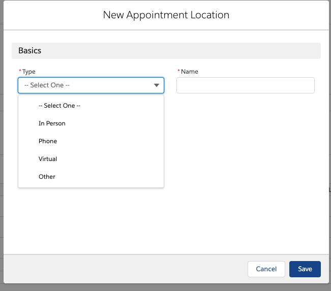 New appointment location