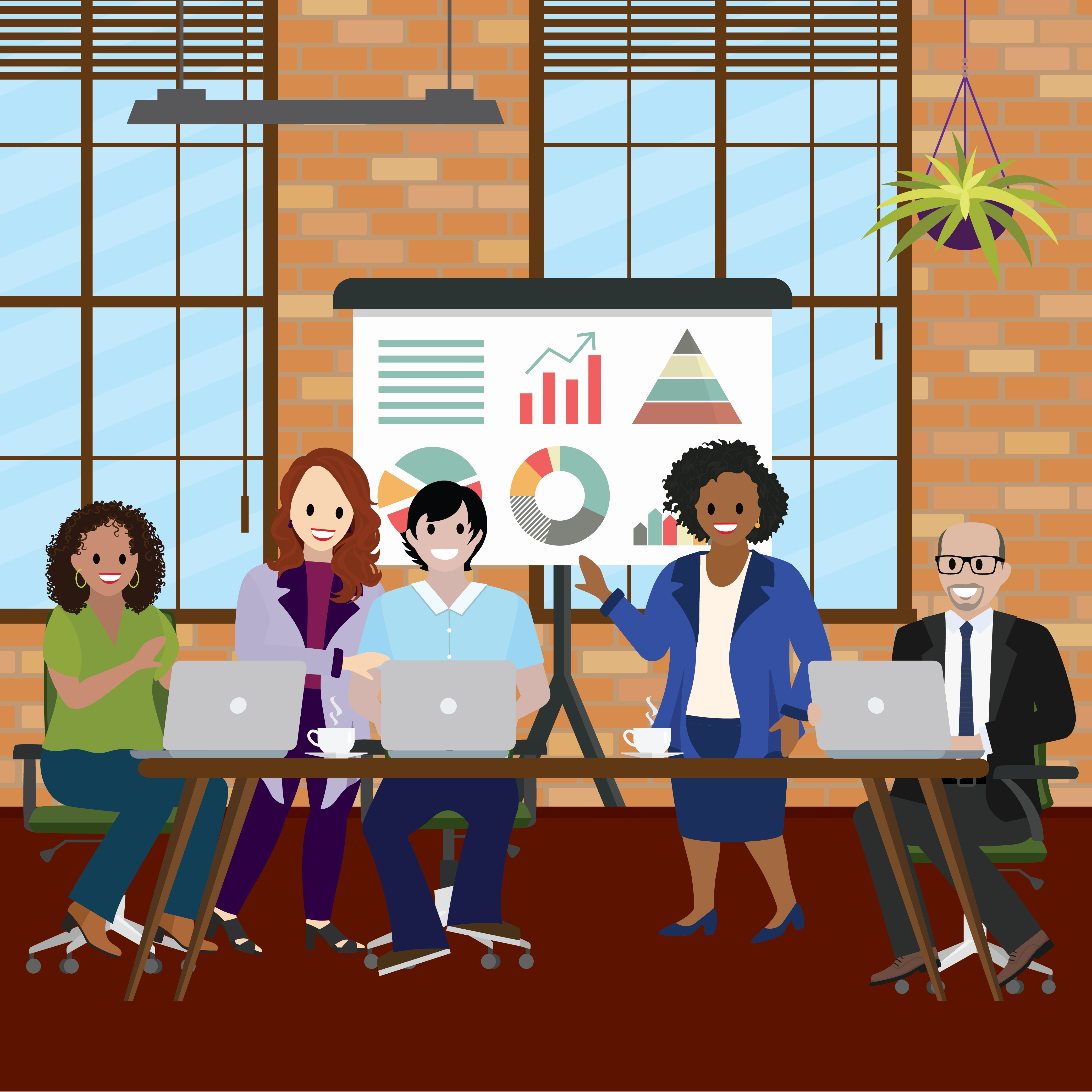 Cloudy Salesforce admin Nina Brown hosts an Advisor Link training. Valerie Keckler assists her fellow advisors.