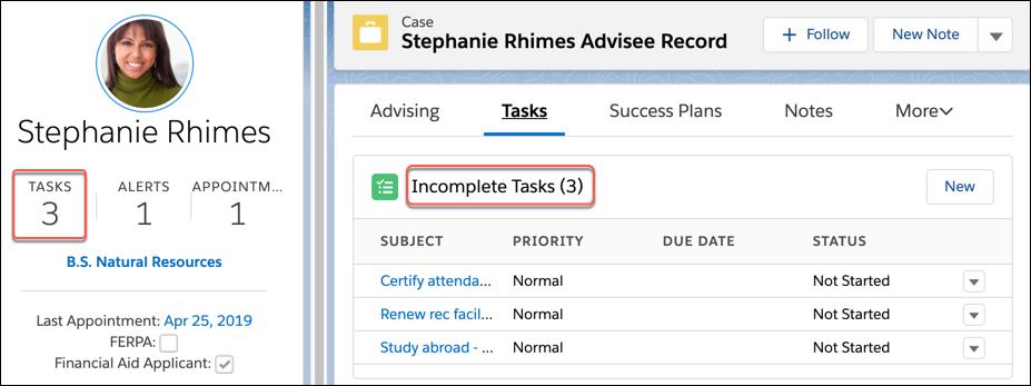 Incomplete Tasks in a task list.