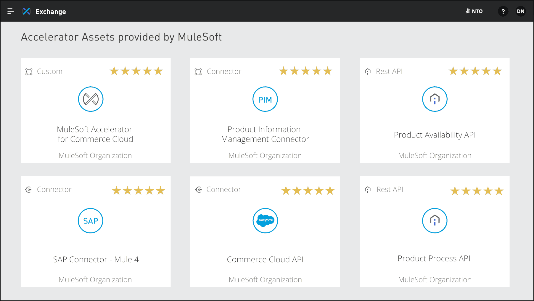 Accelerator Assets provided by Mulesoft
