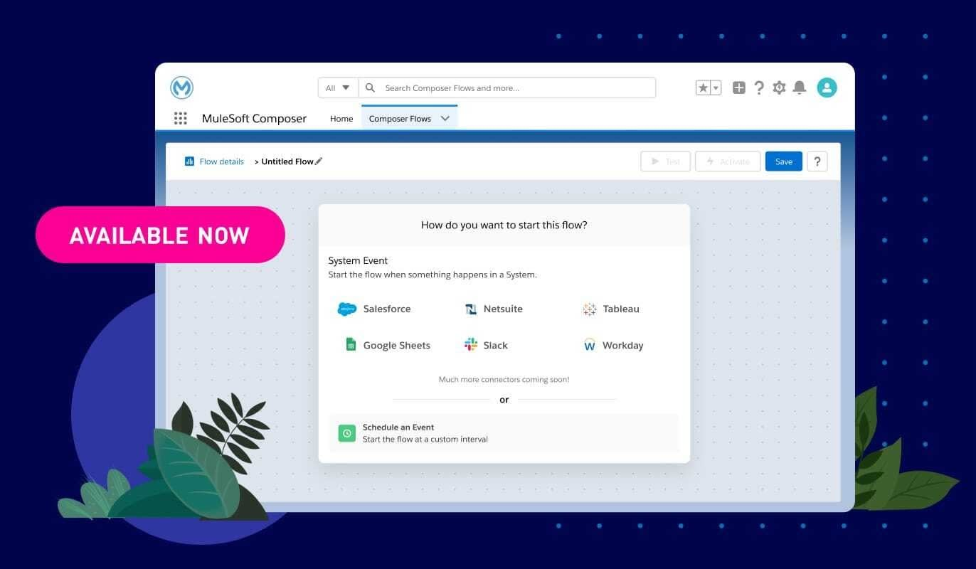 New Anypoint Connector options in MuleSoft Composer