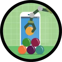 Automate Business Processes for a Recruiting App badge art