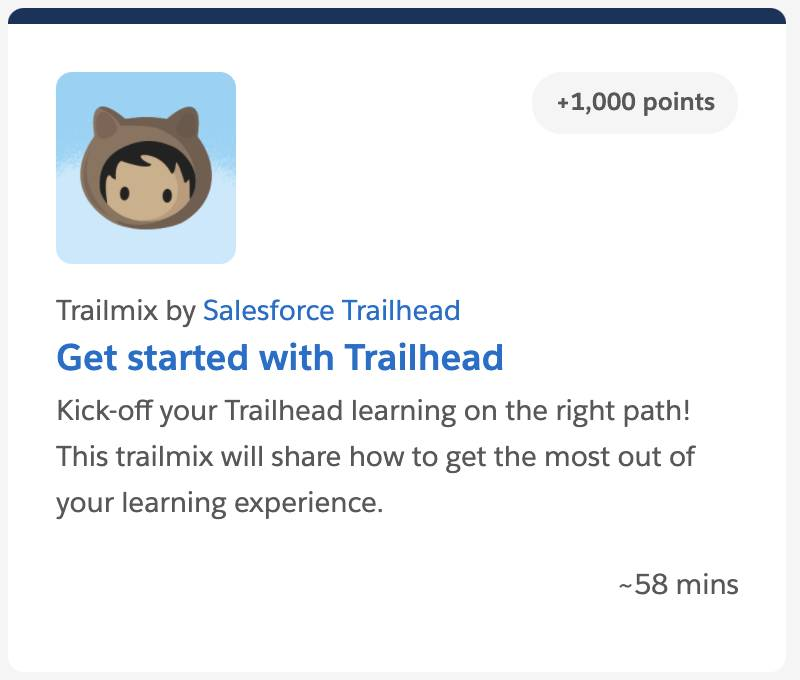 Get started with Trailhead Trailmix tile