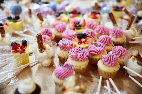 Cupcakes and sweets.
