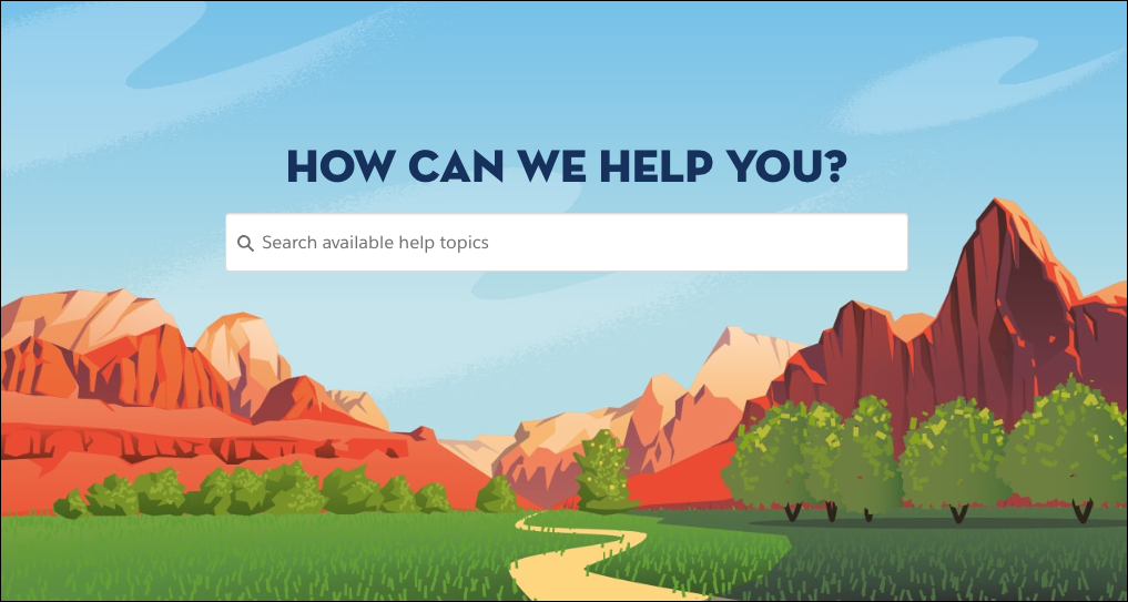 The Trailhead Help page.
