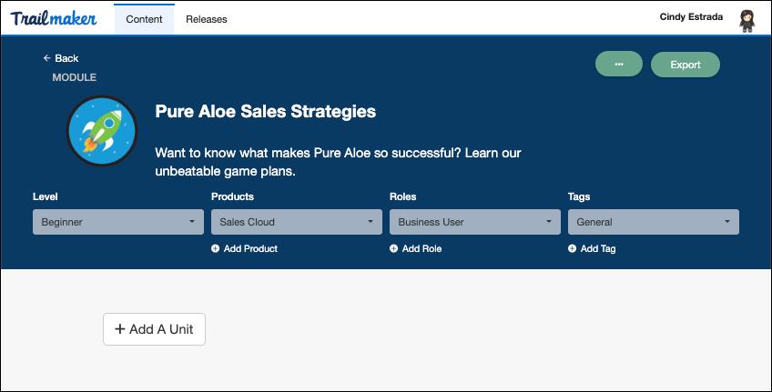 Create a myTrailhead Module and Trail Unit | Salesforce