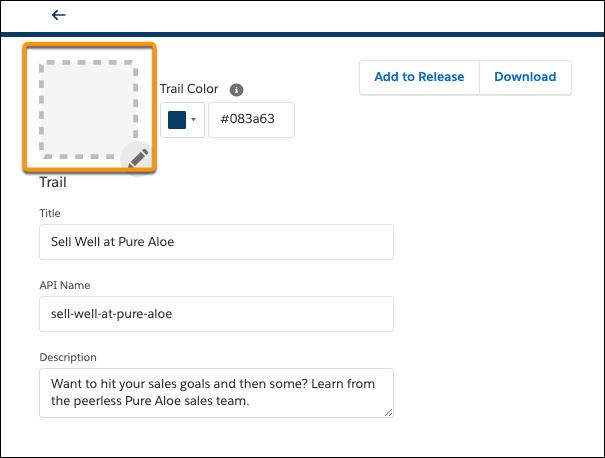 トレイルアート項目が表示されている「Sell Well at Pure Aloe (Pure Aloe で売上を伸ばす)」のトレイルページ