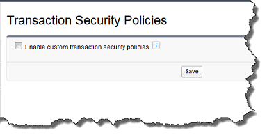 Partial Transaction Security page showing the checkbox to enable the feature.