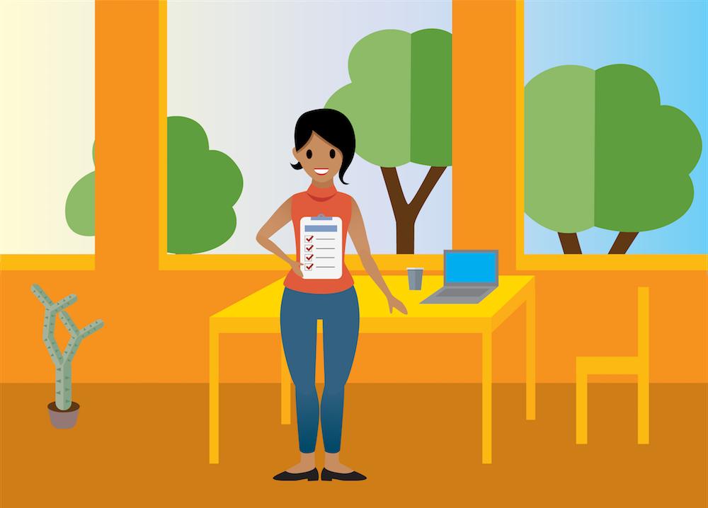 salesforcelandian showing off her testing checklist.