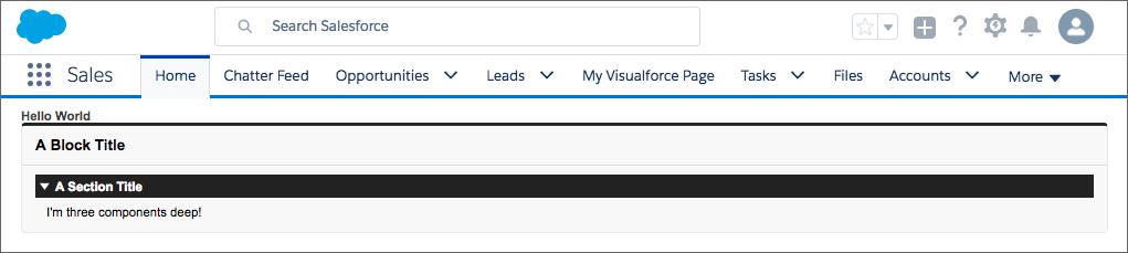 ネストされたコンポーネントを含む簡単なページ