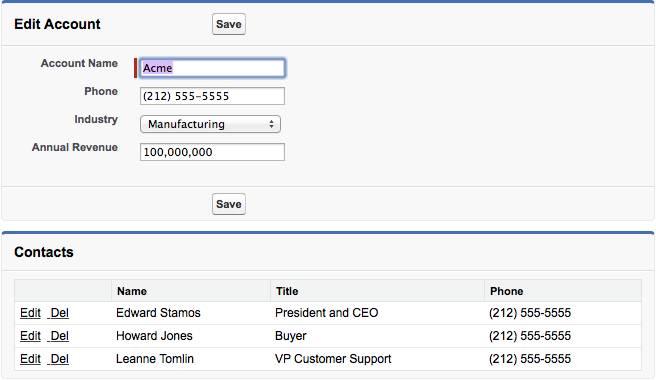 Modificar cuenta con registros de contacto relacionados