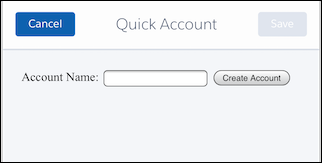 View the Quick Account action page