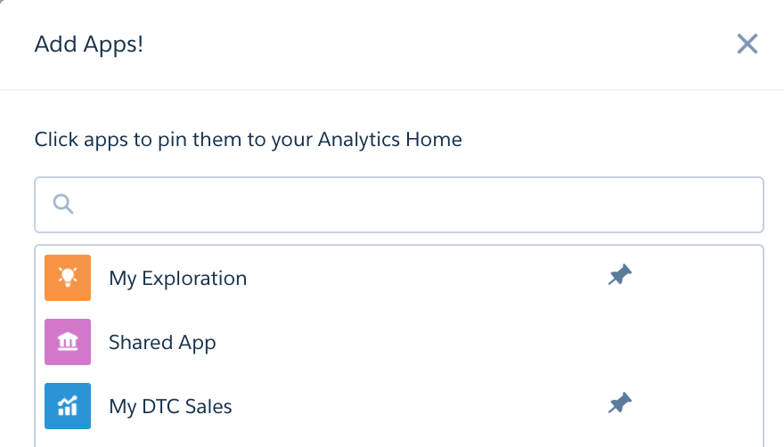 Dialog to pin or unpin apps to the Wave home page