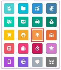 Galerie mit Anwendungssymbolen