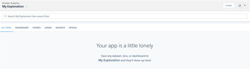 Neue Anwendungen sind nach der Erstellung zunächst leer.