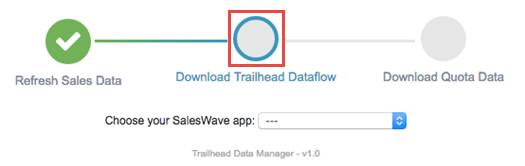 Download Trailhead Dataflow in Trailhead Data Manager