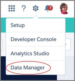 データマネージャを選択