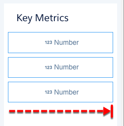 The number widgets are each 3 cells wide by 1 cell tall.