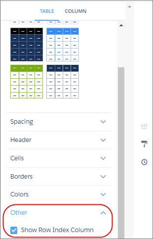 Les propriétés du widget apparaissent dans le volet de droite.