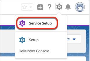 Où trouver la configuration de service dans Salesforce