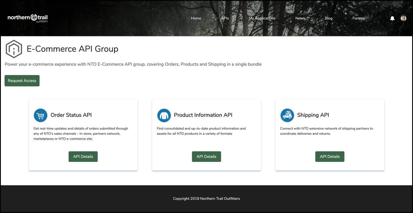 Un groupe d'API sur AnypointExchange