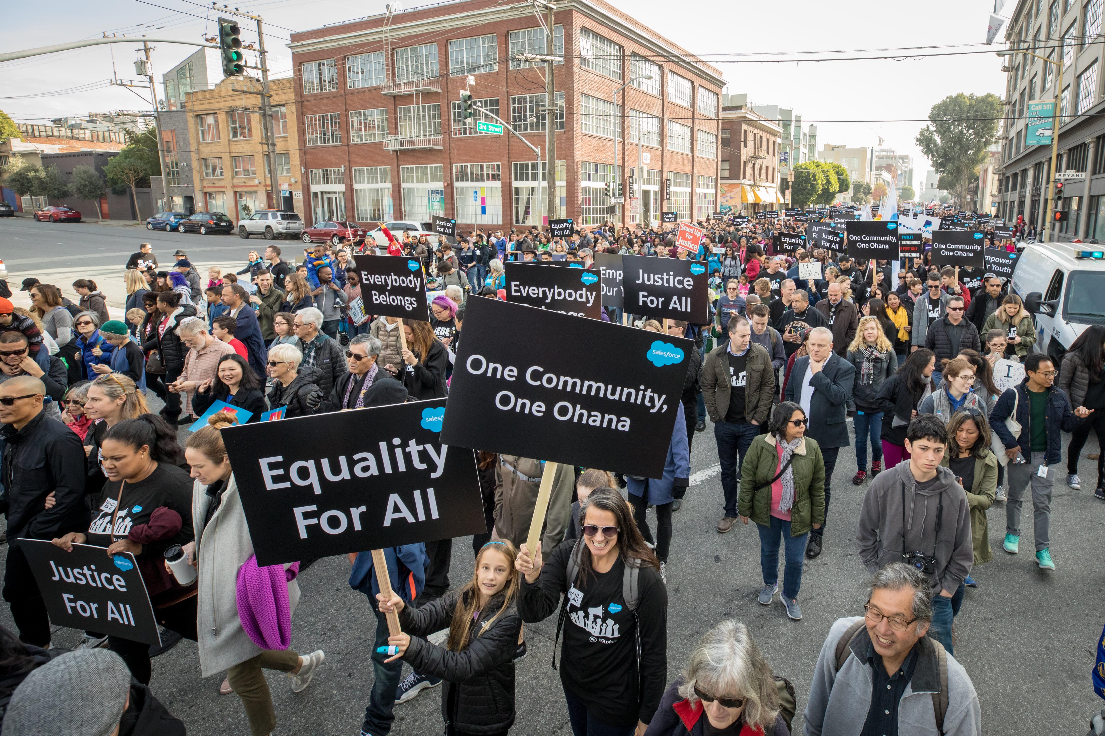 Die Salesforce Ohana beim MLK-Marsch 2018