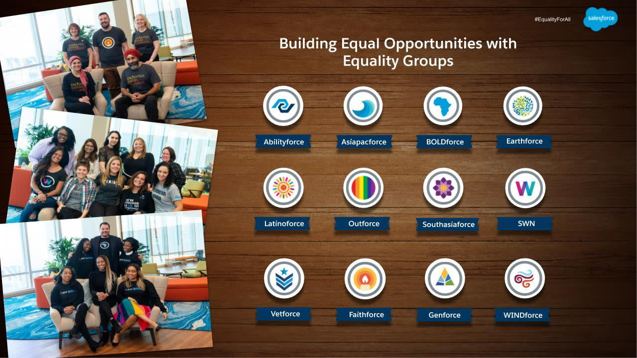 Photo of all the Equality Group logos