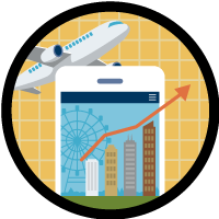 Add Reports and Dashboards to a Travel Approval App icon