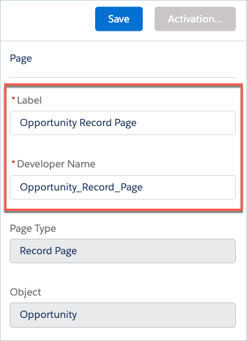 Assign Developer Name to Opportunity Record Page