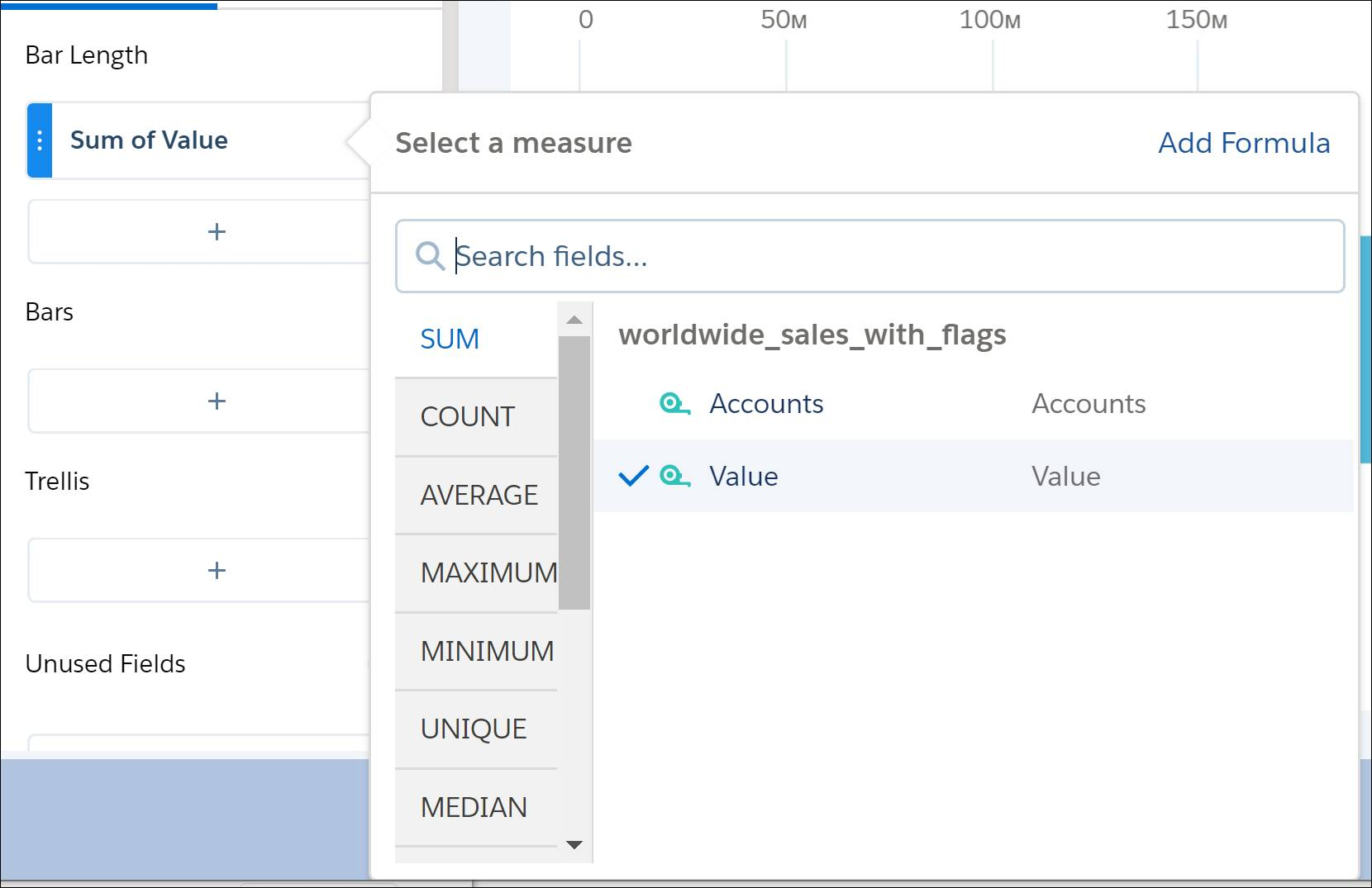 analytics explorer add sum-of-value measure