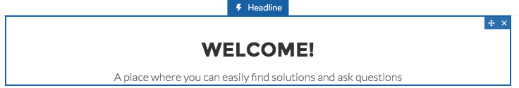 Select the Headline component
