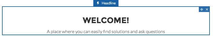 Headline component (Überschriftenkomponente)