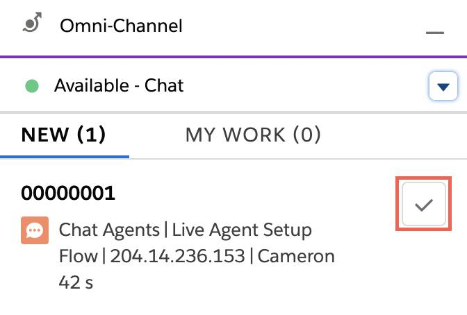 Accepter une demande de chat entrante via Omni-Channel