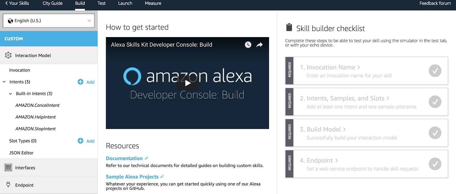 Alexa Skill Dashboard