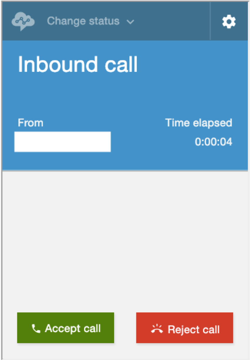 "Screenshot: Contact Control Panel with ""Inbound call"" showing."