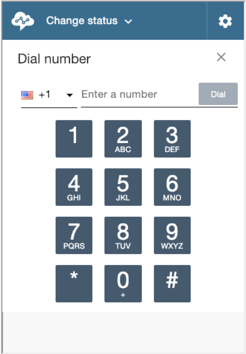"Screenshot: Contact Control Panel with ""Dial number"" showing."