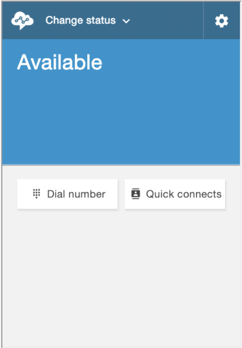 "Screenshot: Contact Control Panel with ""Available"" showing."