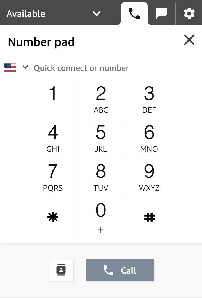 The number pad