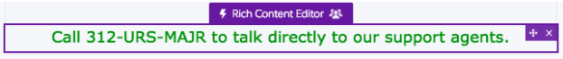 Component outlined in purple to show that it has an audience assigned