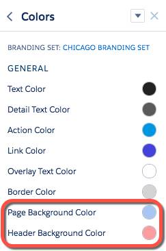 Color palette in Experience Builder