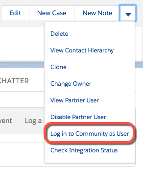 Log in as community user