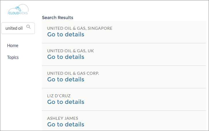 Search results for United Oil.
