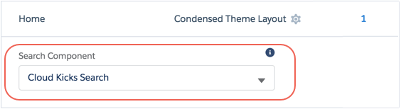 Search Component option for a custom Cloud Kicks Search component