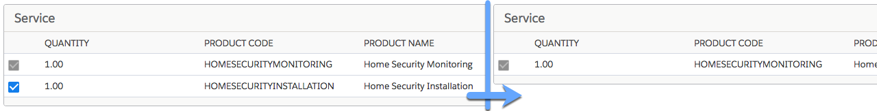 Two versions of a Feature, one that has no Home Security Installation