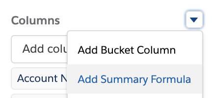 Add Summary Formula option