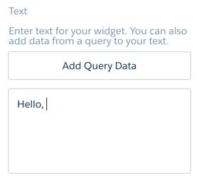 Hello, added to text widget.