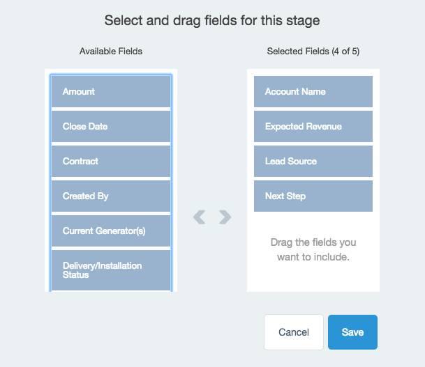 Qualification stage fields screenshot