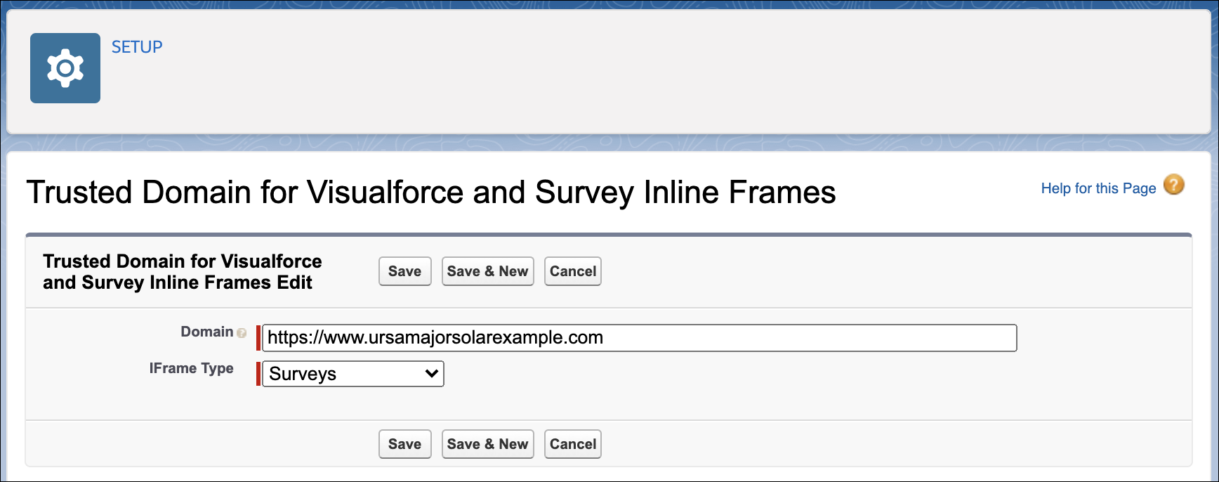 Allowlist domain to allow inline framing of surveys within chat window.