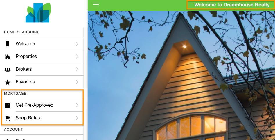 Screenshot of the Dreamhouse web app using pull request two with the Title change and without the Mortgage Calculator feature.