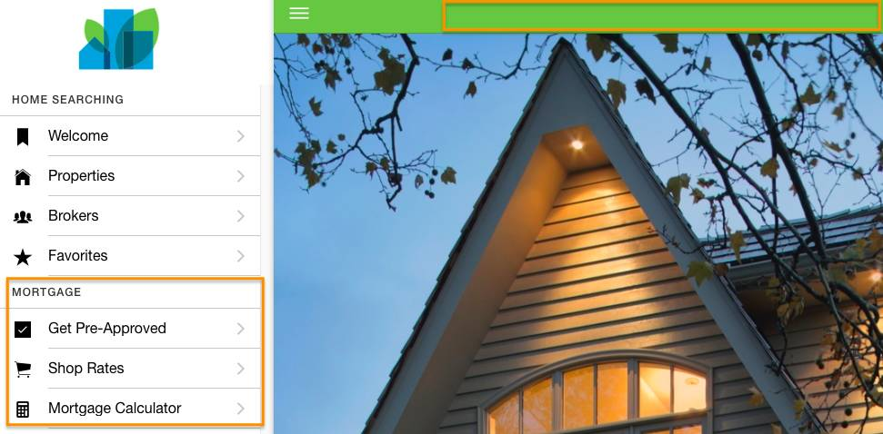 Screenshot of the Dreamhouse web app using pull request one with the Mortgage Calculator and without the title change.